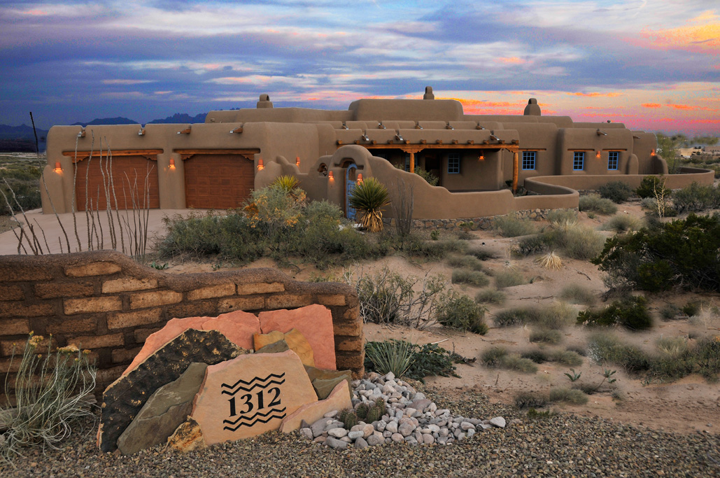 Classic pueblo style new mexico custom home built for an for Home builders in las cruces nm
